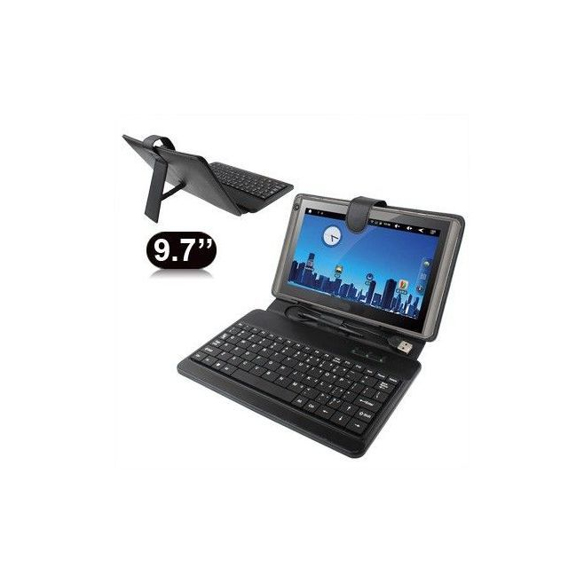 Housse clavier universelle tablette tactile 9.7 pouces support Noir - www.yonis-shop.com