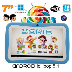 Tablette tactile enfant YOKID quad core 7 pouces Android 5.1 Bleu 16Go - www.yonis-shop.com