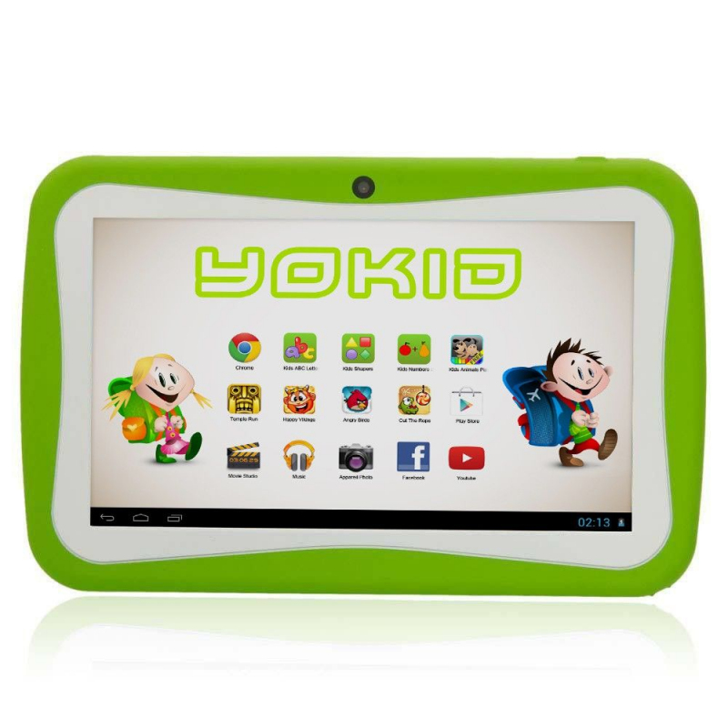 tablette tactile enfant yokid 7 pouces quad core android 5 1 vert. Black Bedroom Furniture Sets. Home Design Ideas