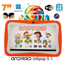 Tablette tactile enfant YOKID 7 pouces quad core Android 5.1 Orange 16Go - www.yonis-shop.com