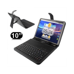 Housse clavier universelle 10 ou 10.1 pouces micro USB support