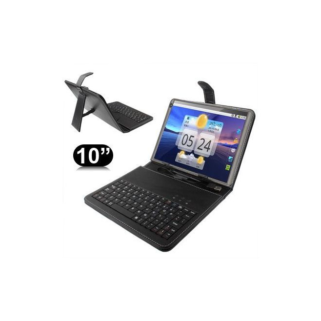 Housse clavier universelle 10 ou 10.1 pouces micro USB support - www.yonis-shop.com
