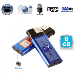 Briquet camera espion appareil photo enregistrement sonore USB 8 Go - www.yonis-shop.com
