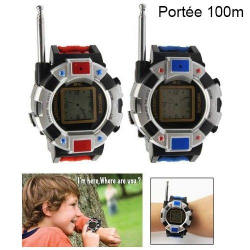 Paire montre talkie walkie réglable jeu enfant push to talk 100 mètres - www.yonis-shop.com