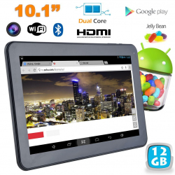 Tablette tactile Android 4.2 10 pouces Dual Core Bluetooth HDMI 12 Go