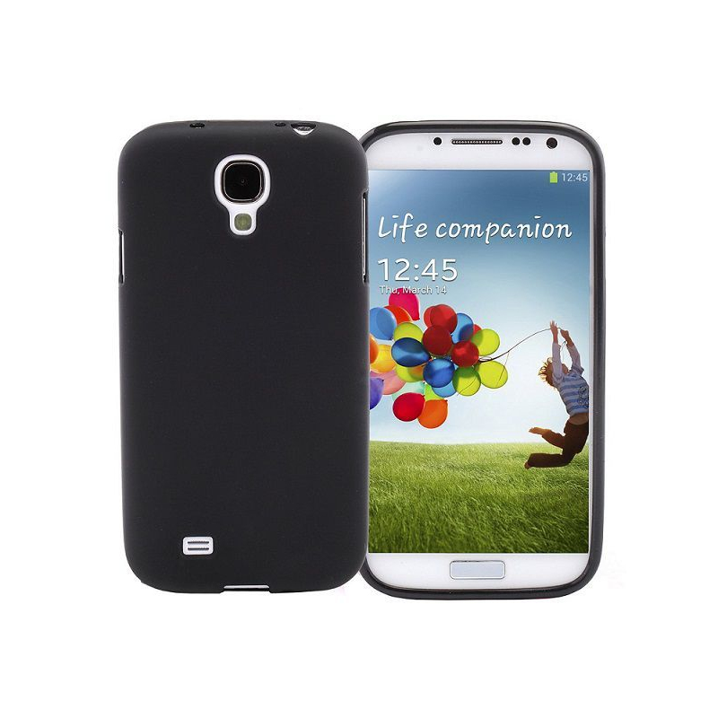 Housse samsung galaxy s4 i9500 coque silicone pure color noir for Housse samsung galaxy s4