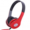 Casque stereo anti bruit casque arceau isolation phonique rouge - www.yonis-shop.com