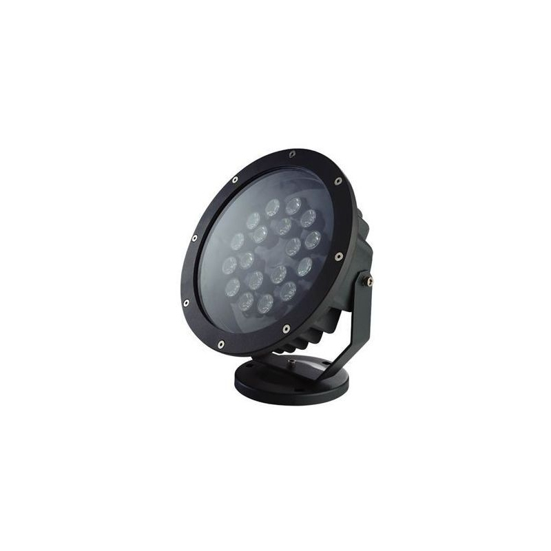 Projecteur ext rieur led 6w rouge vert bleu spot clairage for Led jardin exterieur