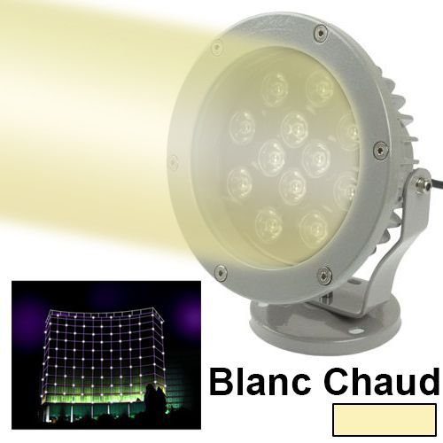 spot lumineux blanc chaud projecteur exterieur 12 led jardin et maison 12w 960lm ebay. Black Bedroom Furniture Sets. Home Design Ideas