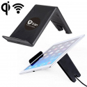 Chargeur sans fil Qi induction support tablette smartphone Noir - www.yonis-shop.com