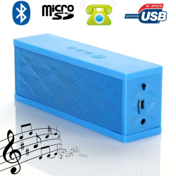 Mini enceinte Bluetooth portable stereo smartphone tablette Bleu