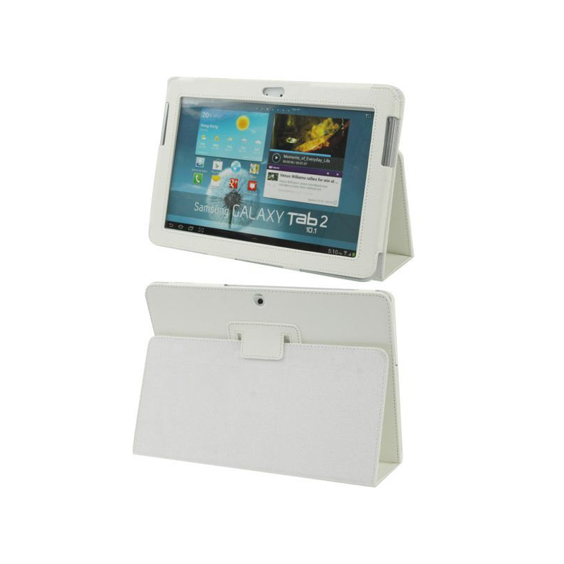 housse samsung galaxy tab 2 gt p5100 10 1 pouces support blanc