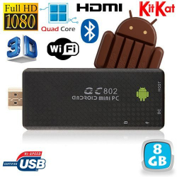 Mini PC Android Kitkat 4.4 Quad Core TV Box Full HD Bluetooth 8Go - www.yonis-shop.com