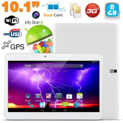 Tablette tactile 3G 10.1 pouces Android 4.4 Dual SIM 8Go