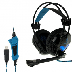 Casque micro PC gaming microphone ajustable USB noir - www.yonis-shop.com