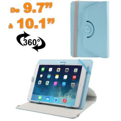 Housse universelle tablette 9.7 - 10.1 pouces support 360° bleu - www.yonis-shop.com