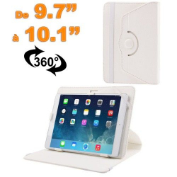 Housse universelle tablette 9.7 - 10.1 pouces support 360° Blanc
