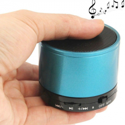 Mini Enceinte Bluetooth universelle smartphone kit mains-libres Bleu