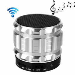 Mini Enceinte bluetooth kit mains libres micro SD USB métal Argent - www.yonis-shop.com