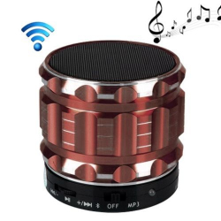 Mini Enceinte bluetooth kit mains libres micro SD USB métal Marron - www.yonis-shop.com