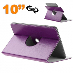 Housse tablette 10 pouces universelle 10.1'' support 360° Violet
