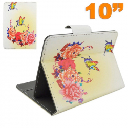 Housse universelle tablette 10 10.1 pouces support ajustable papillon