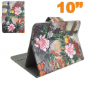 Housse universelle tablette 10 pouces 10.1'' support Tour Eiffel fleur - www.yonis-shop.com
