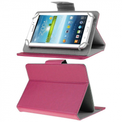 Housse universelle tablette tactile 7 pouces support ajustable Rose - www.yonis-shop.com