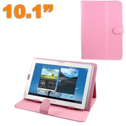 Housse tablette 10.1 pouces protection universelle simili cuir Rose - www.yonis-shop.com