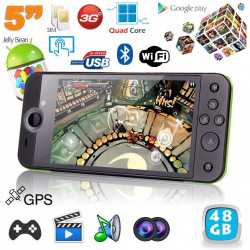 Mini console portable 3G quad core 5 pouces gamepad Android 4.2 24Go