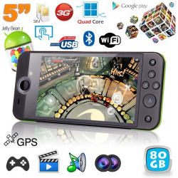 Mini console portable 3G quad core 5 pouces gamepad Android 4.2 48Go