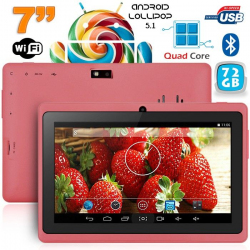 Tablette 7 pouces bluetooth Quad Core Android 4.4 KitKat 68 Go Violet - www.yonis-shop.com
