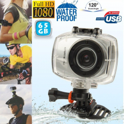 Camera embarquée étanche caisson waterproof Grand angle Full HD 65 Go - www.yonis-shop.com