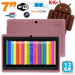 Tablette tactile Android 4.4 KitKat 7 pouces Dual Core 12 Go Violet - www.yonis-shop.com