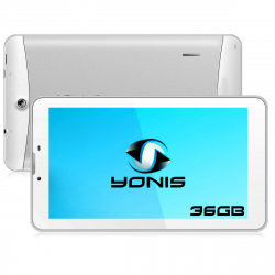Tablette 3G 7 pouces GPS OTG Android 4.4 Double SIM 36Go Blanc - www.yonis-shop.com