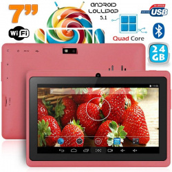 Tablette 7 pouces bluetooth Quad Core Android 4.4 KitKat 20 Go Violet - www.yonis-shop.com