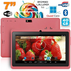 Tablette 7 pouces bluetooth Quad Core Android 4.4 KitKat 36 Go Violet - www.yonis-shop.com