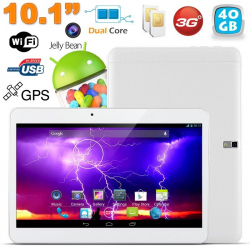 Tablette tactile 3G 10.1 pouces Android 4.4 Dual SIM 40 Go