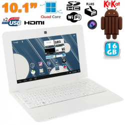 Mini PC Android 4.4 Netbook Ultra portable 10 pouces WiFi 16Go Blanc - www.yonis-shop.com