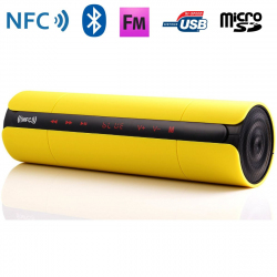Enceinte Bluetooth universelle portable FM kit mains-libres NFC Jaune