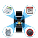 Montre Connectée Bluetooth Android ecran LCD kit main libre Noir - www.yonis-shop.com