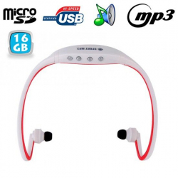 Casque sport sans fil lecteur MP3 audio Running vélo Rouge 16 Go - www.yonis-shop.com