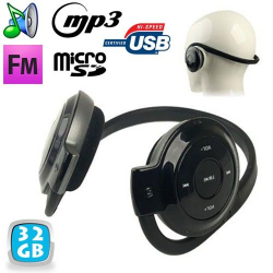 Casque sport lecteur audio MP3 sans fil Radio FM Running 32 Go - www.yonis-shop.com