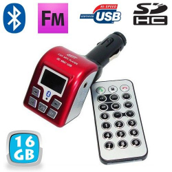 Transmetteur FM Bluetooth USB kit main libre voiture 16 Go