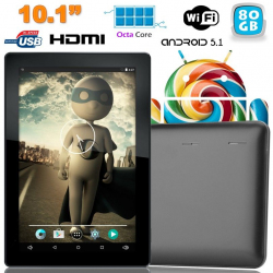 Tablette tactile 10 pouces Android Lollipop 5.1 Octa Core 80Go Noir - www.yonis-shop.com