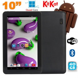 Tablette 10 pouces Quad Core Android 4.4 WiFi Bluetooth 40Go Noir - www.yonis-shop.com