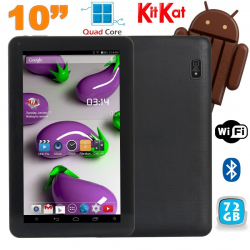 Tablette 10 pouces Quad Core Android 4.4 WiFi Bluetooth 72Go Noir - www.yonis-shop.com