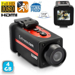 Caméra sport waterproof Full HD 1080p grand angle 170° Rouge 4Go - www.yonis-shop.com