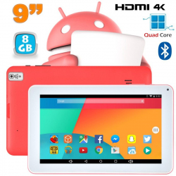 Tablette 9 pouces Android 6.0 HDMI 4K 1,5 GHz 1 Go RAM Rose 8 Go - www.yonis-shop.com