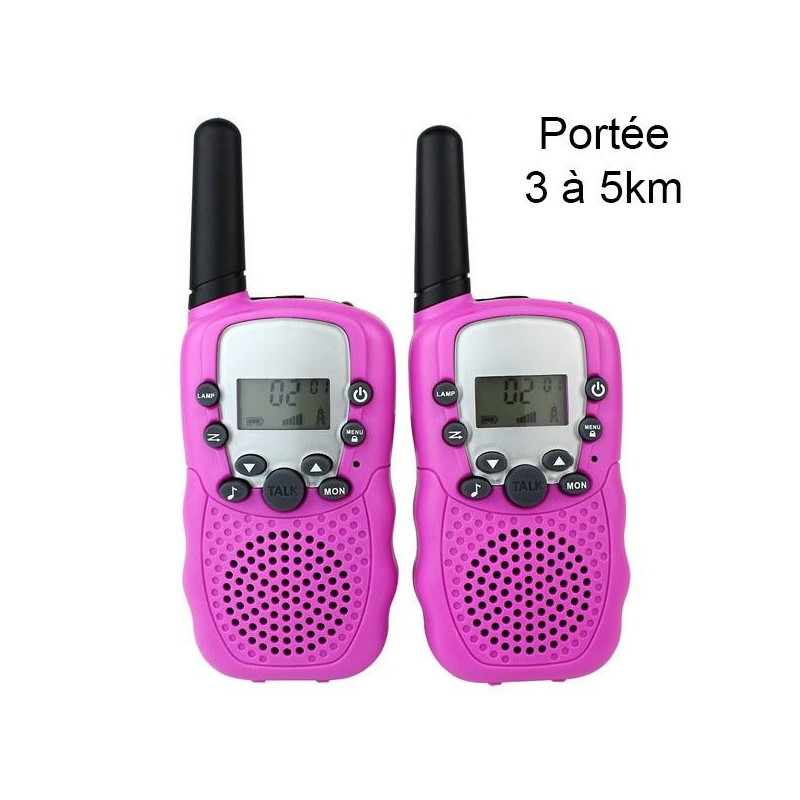 Talkie walkie 22 canaux push to talk cran lcd port e 3 - Talkie walkie professionnel longue portee ...